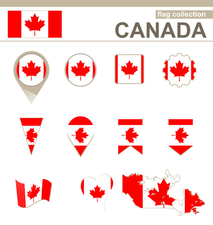 versions: Canada Flag Collection, 12 versions Illustration