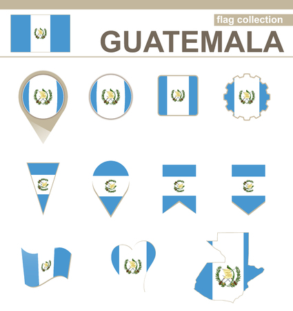 versions: Guatemala Flag Collection, 12 versions Illustration