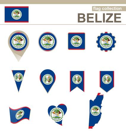 versions: Belize Flag Collection, 12 versions Illustration