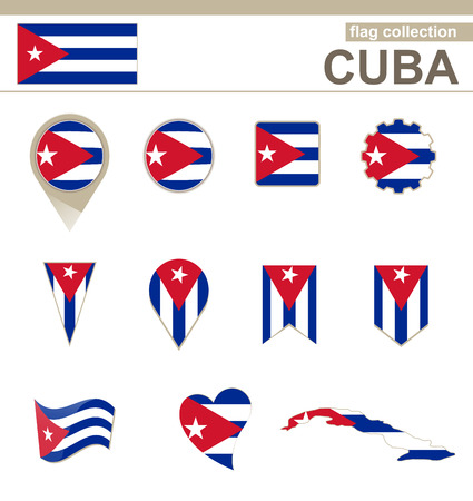 cuba flag: Cuba Flag Collection, 12 versions