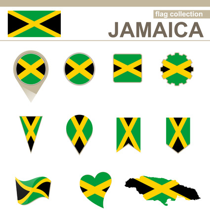Jamaica Flag Collection, 12 versions Vector
