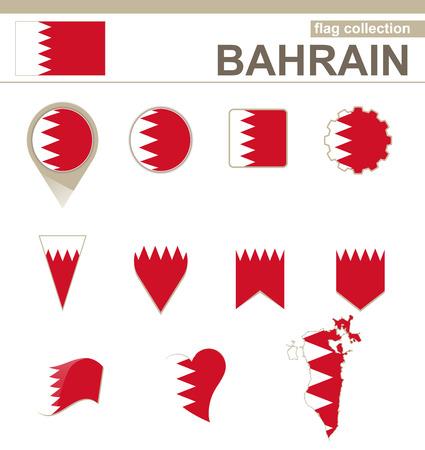 versions: Bahrain Flag Collection, 12 versions Illustration