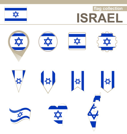 Israel Flag Collection, 12 versions Vector