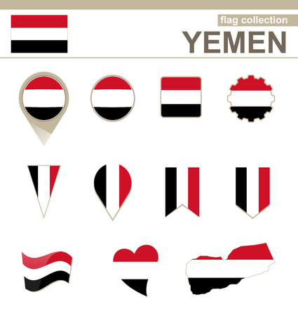 versions: Yemen Flag Collection, 12 versions