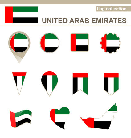 united arab emirates: United Arab Emirates Flag Collection, 12 versions