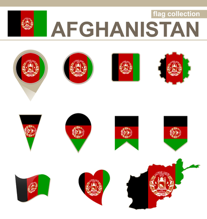 versions: Afghanistan Flag Collection, 12 versions Illustration