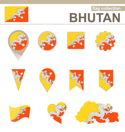 versions: Bhutan Flag Collection, 12 versions Illustration
