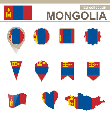 mongolia: Mongolia Flag Collection, 12 versions