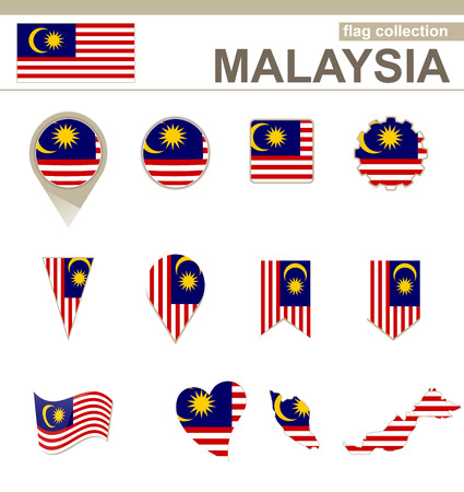 malaysia: Malaysia Flag Collection, 12 versions