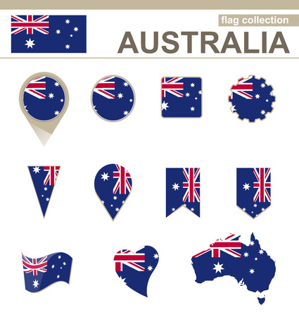 australia: Australia Flag Collection, 12 versions