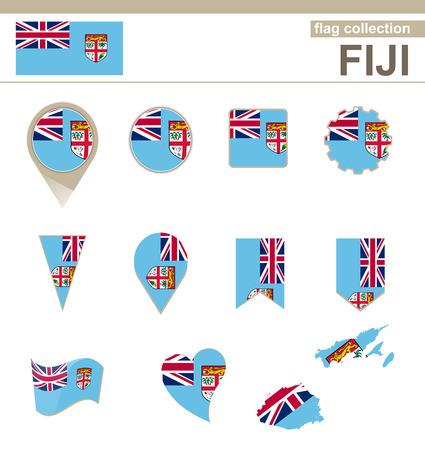 fiji: Fiji Flag Collection, 12 versies