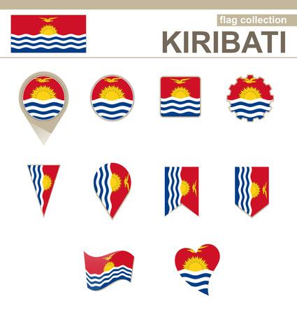 kiribati: Kiribati Flag Collection, 12 versions