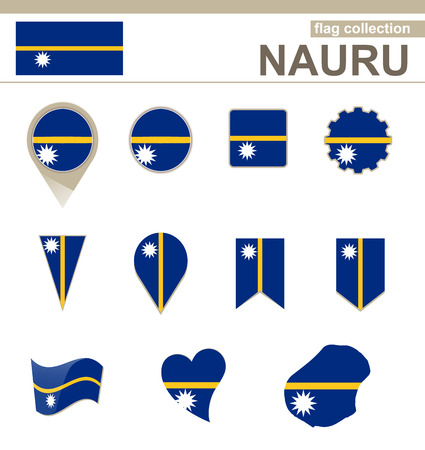 nauru: Nauru Flag Collection, 12 versions