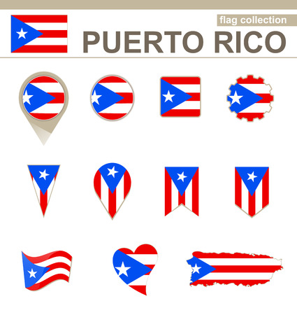 puerto rican flag: Puerto Rico Flag Collection, 12 versions Illustration