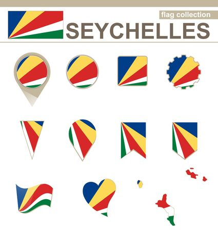 seychelles: Seychelles Flag Collection, 12 versions