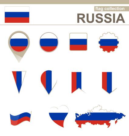 bandera rusia: Rusia Bandera Collection, 12 versiones