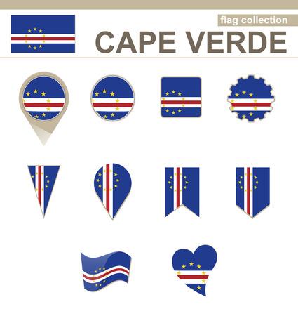 cape verde: Cape Verde Flag Collection, 12 versions