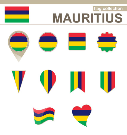 versions: Mauritius Flag Collection, 12 versions Illustration
