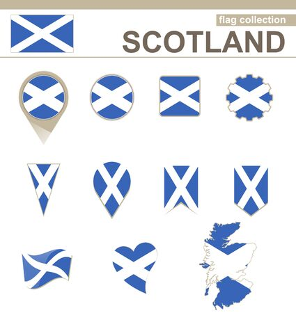 versions: Scotland Flag Collection, 12 versions