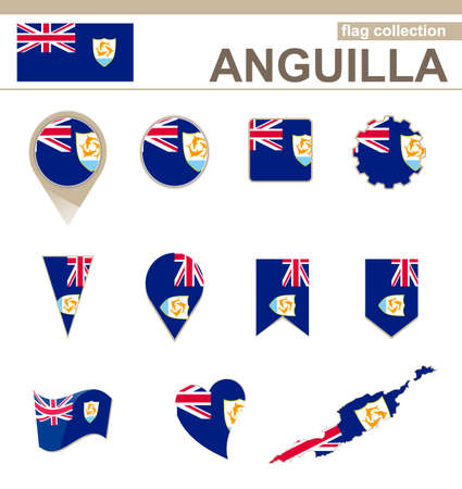 anguilla: Anguilla Flag Collection, 12 versions