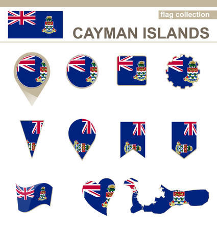 Cayman Islands Flag Collection, 12 versions Vector