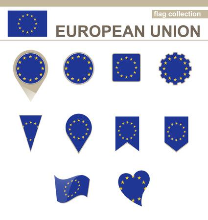 versions: European Union Flag Collection, 12 versions Illustration