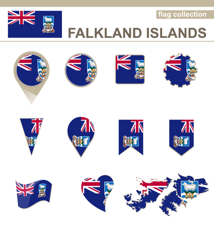 versions: Falkland Islands Flag Collection, 12 versions