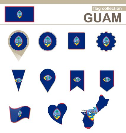 versions: Guam Flag Collection, 12 versions