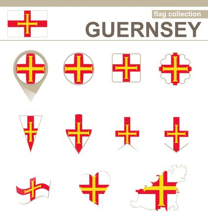 guernsey: Guernsey Flag Collection, 12 versions