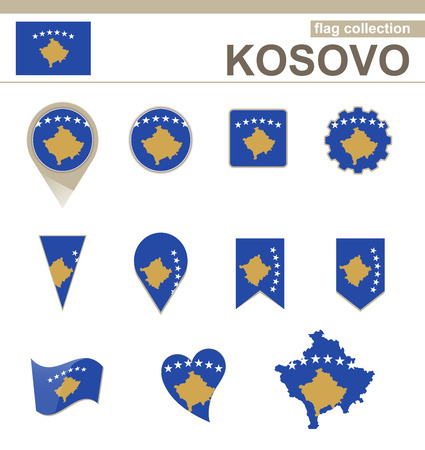 versions: Kosovo Flag Collection, 12 versions