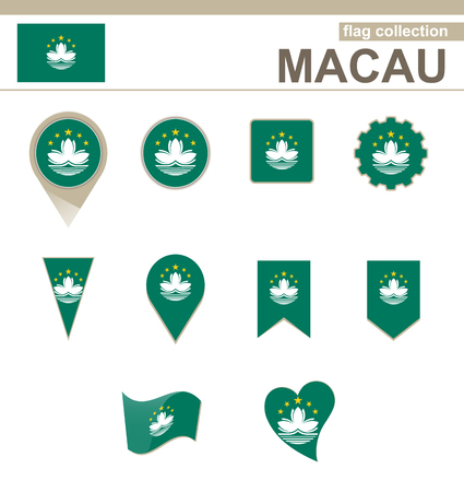 macau: Macau Flag Collection, 12 versions