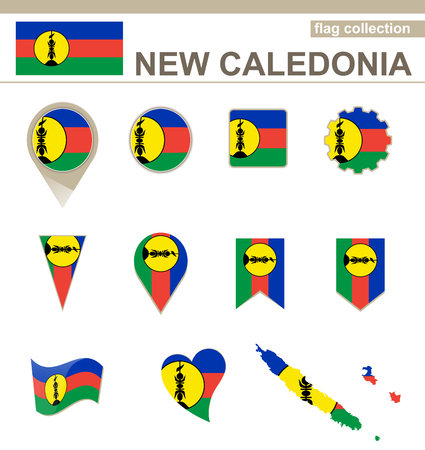 new caledonia: New Caledonia Flag Collection, 12 versions