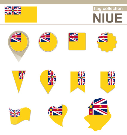 versions: Niue Flag Collection, 12 versions
