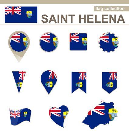 helena: Saint Helena Flag Collection, 12 versions Illustration