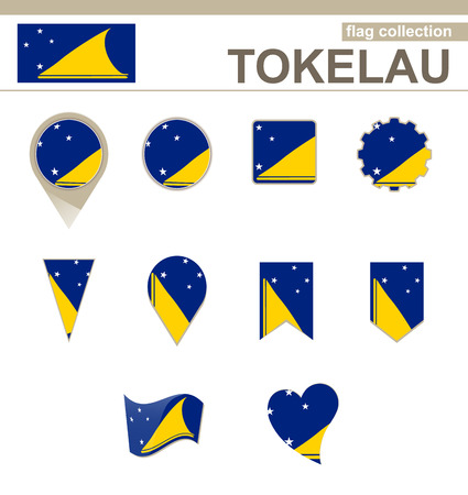 tokelau: Tokelau Flag Collection, 12 versions Illustration