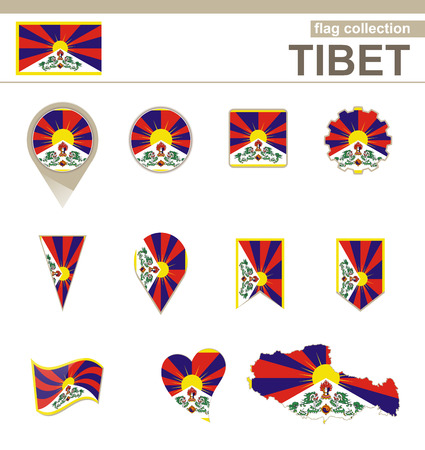 versions: Tibet Flag Collection, 12 versions
