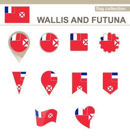 wallis: Wallis and Futuna Flag Collection, 12 versions