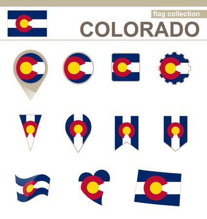 colorado flag: Colorado Flag Collection, 12 versions Illustration