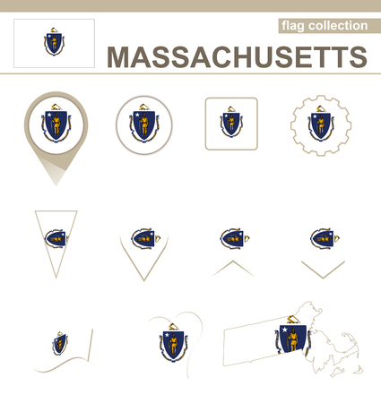 versions: Massachusetts Flag Collection, USA State, 12 versions