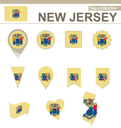 jersey: New Jersey Flag Collection, USA State, 12 versions