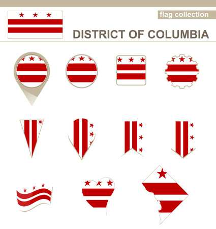 georgetown: District of Columbia Flag Collection, USA State, 12 versions