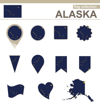 alaskabo: Alaska flagga Collection, 12 versioner