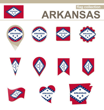 versions: Arkansas Flag Collection, 12 versions