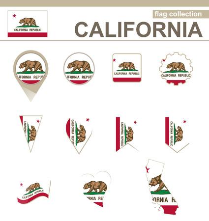 California Flag Collection, 12 versions Vector