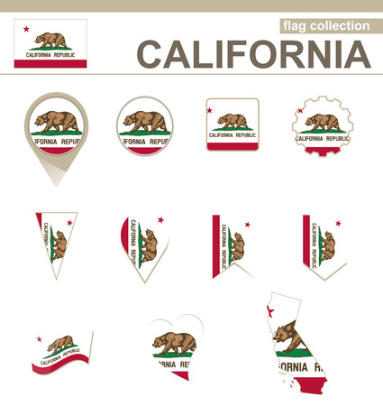 versions: California Flag Collection, 12 versions