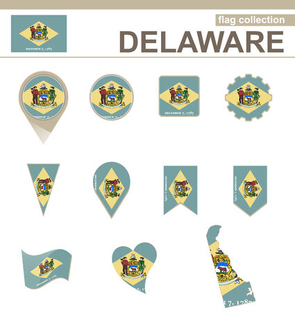 dover: Delaware Flag Collection, USA State, 12 versions