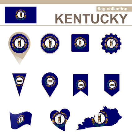 kentucky: Kentucky Flag Collection, USA State, 12 versions