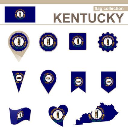 kentucky: Kentucky Flag Collection, USA State, 12 versions