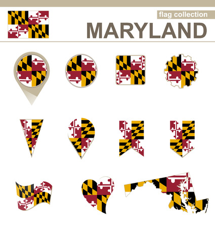 maryland flag: Maryland Flag Collection, USA State, 12 versions