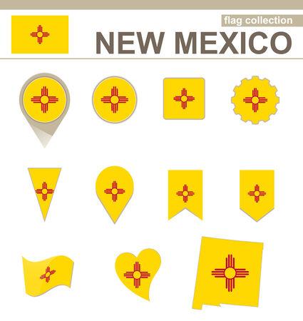 albuquerque: New Mexico Flag Collection, USA State, 12 versions